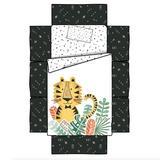 Indigo Safari Elspeth Baby Tiger 4 Piece Crib Bedding Set Polyester in Black/White, Size 38.0 W in   Wayfair 100349