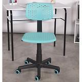 Isabelle & Max™ Cordova Desk Plastic in Blue, Size 34.0 H x 19.0 W x 19.0 D in | Wayfair B3D392FDEC7C4F76803C88313C379A8F