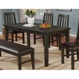 Gracie Oaks Zareen 6 - Person Pine Solid Wood Dining Set Wood/Upholstered Chairs in Gray, Size 6.0 H in | Wayfair C60DCCB06D774A75A7F3F09FB2A9E013