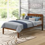 "Winston Porter Norvan Twin Solid Wood Platform Bed, Wood/Solid Wood in Walnut, Size 78.5"" L x 42.28"" W x 37"" H 