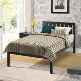 "Winston Porter Norvan Twin Solid Wood Platform Bed, Wood/Solid Wood in Espresso, Size 78.5"" L x 42.28"" W x 37"" H 