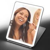 Latitude Run® Portable Travel Modern Frameless Lighted Makeup Mirror, Size 9.92 H x 7.43 W x 0.75 D in   Wayfair 1E13A58198764586B573D391E689DB1F