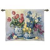 Canora Grey Cotton Celadon Flower Pot Wall Hanging Cotton in Black/Blue/Gray, Size 18.0 H x 22.0 W in | Wayfair E57C4BD7E629498A94985EBA93CCBE27