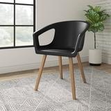 "Etc. Deker 24"" W Waiting Room Chair w/ Wood Frame Wood in Black, Size 32.0 H x 24.0 W x 23.0 D in | Wayfair C01SDC0102"