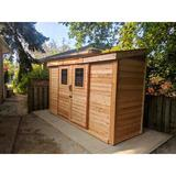 Outdoor Living Today 12 ft. W x 5 ft. D Solid Wood Lean-To Storage Shed in Brown, Size 96.0 H x 147.5 W x 55.0 D in | Wayfair SS124-SLIDER