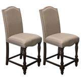 Counter Height Walnut Dining Chairs in Walnut (Set of 2) - Best Master Furniture D1881CHST