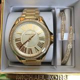 Michael Kors Accessories | Brand New Michael Kors Watch & Accent Bracelet | Color: Gold | Size: Os