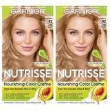 Garnier Nutrisse Nourishing Permanent Hair Color Cream, 92 Light Buttery Blonde (2 Count) Blonde Hair Dye