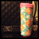 Lilly Pulitzer Dining   12 Ounce Lilly Pulitzer Coffee Tumbler   Color: Blue/Orange   Size: Os