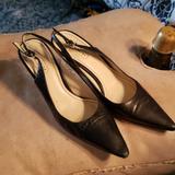 Coach Shoes   Black Leather Heels Coach Slingback Kitten Heels   Color: Black   Size: 9