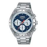 Lorus   Mens Chronograph   Stainless Steel Bracelet   Blue Dial   RT339HX9
