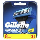 Gillette Mach 3 Turbo Refill Razor for Men – Pack of 8
