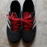 Adidas Shoes   Adidas Kids Soccer Shoes   Color: Black/Red/White   Size: 5.5b