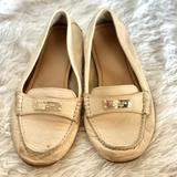 Coach Shoes | Coach Driving Loafer Club Shoes | Color: Cream/Tan | Size: 7