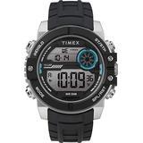 Timex Men's DGTL Sphere 45 mm Chrono Silicone Strap Watch TW5M34600
