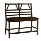 Trusses Upholstered Counter Bench in Espresso - Progressive Furniture D896-70