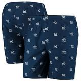 """Men's Navy New York Yankees Cooperstown Collection Mini Logo Swim Shorts"""