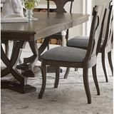 Fleur De Lis Living Gunnell Slat Back Side Chair in RussetWood/Upholstered/Fabric in Brown/Gray, Size 40.94 H x 20.32 W x 24.02 D in | Wayfair