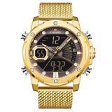[Watches for Men ] NAVIFORCE 9172s Mens Watch - Business Fashion Luxury - Digital Quartz Dual Time Display - Casual Japanese Quartz Watches (02)