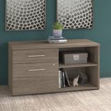 Bush Business Furniture Office 500 Low Wall Cabinet Modern Hickory - OFS145MH