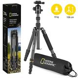National Geographic Travel Photo Tripod Kit with Monopod, Carbon Fibre, 5-Section Legs, Twist Locks, Load up 8kg, Carrying Bag, Ball Head, Quick Release, NGTR004TCF (NGR004TCF)