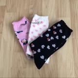 Kate Spade Accessories | 3 Pair Kate Spade Multi Design Crew Cut Socks Nwt | Color: Black/White | Size: Os