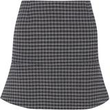 Fluted Checked Crepe Mini Skirt - Blue - Sonia Rykiel Skirts