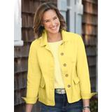 Women's Anywhere Cotton Stretch Twill Jacket, Sunny Yellow L Misses