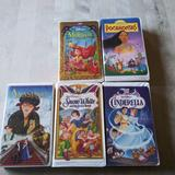 Disney Other | 5 Disney Vhs Tapes Cinderella, Snow White | Color: White | Size: Os