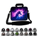 """Funky Planet 15"""" 15.6"""" inch Shoulder Laptop Sleeve Case Bag Compatible with Apple MacBook air pro Dell Lenovo Samsung Asus Computer Tablet or Ipad"""