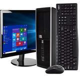 """HP Compaq 8100 Elite Desktop PC Computer, Intel i5-650 3.2GHz, 8GB RAM, 1TB Hard Drive, Windows 10 Pro, DVD, 19"""" LCD, Wireless Keyboard& Mouse, New 16GB Flash Drive, New Mousepad, USB WiFi (Renewed)"""