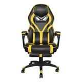 ECLIFE Ergonomic Gaming Chair Faux Leather in Yellow, Size 48.5 H x 26.8 W x 26.8 D in | Wayfair OF-D02YE