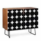 East Urban Home Natalie Baca 2 Door Accent Cabinet Wood/Metal in Brown, Size 30.0 H x 31.0 W x 17.5 D in | Wayfair C9F1E0E2309C466C9DFAB89633E41D68