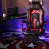 ECLIFE Gaming Chair Faux Leather in Red, Size 48.5 H x 26.8 W x 26.8 D in | Wayfair OF-D01RD