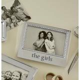 Mariposa The Girls Beaded Picture Frame Metal in Gray/Green, Size 5.75 H x 6.75 W x 0.75 D in   Wayfair 3906TL