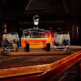 NutriChef Glass 5 Piece Whiskey Decanter Set Glass, Size 7.28 H x 11.81 W in   Wayfair NCGDS19