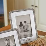 Mariposa You & Me Rope Picture Frame Metal in Gray/Green, Size 9.75 H x 8.25 W x 0.75 D in   Wayfair 2296