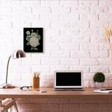 Stupell Industries 'Yellow Flowers on Black Design' by the Saturday Evening Post - Drawing Print Wood in Brown, Size 15.0 H x 10.0 W x 0.5 D in