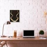 Stupell Industries 'Goat Horns Shadow Black Gold Animal' by Third & Wall - Painting Print in Black/Brown, Size 19.0 H x 13.0 W x 0.5 D in   Wayfair