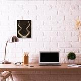 Stupell Industries 'Goat Horns Shadow Black Gold Animal' by Third & Wall - Painting Print in Black/Brown, Size 15.0 H x 10.0 W x 0.5 D in   Wayfair