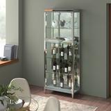 Latitude Run® Akachi Lighted Curio Cabinet Glass in Gray, Size 79.53 H x 31.5 W x 15.75 D in | Wayfair BA79478ECD984F008B1B7B6984E2B841
