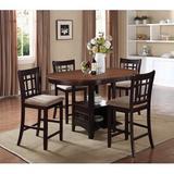 Red Barrel Studio® Volkan Counter Height Drop Leaf Dining Table Wood in Brown, Size 36.25 H in   Wayfair F52DC96E799140C8BEAEC5194B30DBFF