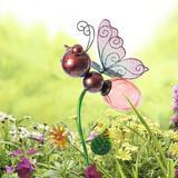 Rosalind Wheeler Aliya Butterfly Garden Stake Metal, Size 19.76 H x 4.47 W x 9.06 D in | Wayfair 71B9FEC0E6B345308CF88BD1ABCAD6A7