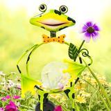Rosalind Wheeler Belen Frog Garden Art Metal, Size 22.76 H x 5.49 W x 12.76 D in | Wayfair 2E15196DE779468FBF3B65F9D134982B