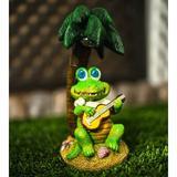 Rosecliff Heights Martinek Crocodile Fairy Garden Resin/Plastic, Size 10.63 H x 9.49 W x 10.2 D in | Wayfair 48F2539122F74463BC4EEF282A0E11D9