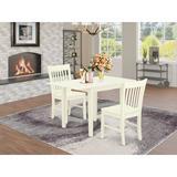 Winston Porter Brinklee Drop Leaf Rubberwood Solid Wood Dining Set Wood in White, Size 30.0 H in | Wayfair 0AC49282757543528F5D7944F39950EF