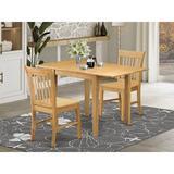 Winston Porter Brinklee Drop Leaf Rubberwood Solid Wood Dining Set Wood in Brown, Size 30.0 H in | Wayfair E588B7DEDA274DF5B84708100914A23B