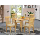 Winston Porter Champy Drop Leaf Solid Wood Dining Set Wood/Upholstered Chairs in Brown, Size 30.0 H in | Wayfair F07AB6D7D16E4FE296D0A717CB5F89C2