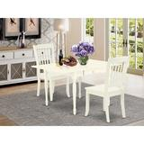 Ophelia & Co. Chelmsford Drop Leaf Solid Wood Dining Set Wood in White, Size 30.0 H in | Wayfair 47882E130C284AD8AAB6909DCFF7973A