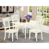 Ophelia & Co. Chelmsford Drop Leaf Solid Wood Dining Set Wood in White, Size 30.0 H in | Wayfair E1C19C0B9EB54DC7A18E0B161E208D72